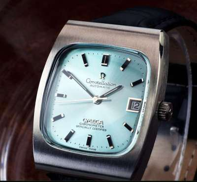 OMEGA コンステレーション・クロノメーター Steel , Sky Blue Dial Automatic ( 美品、OH済み ) / 33mm